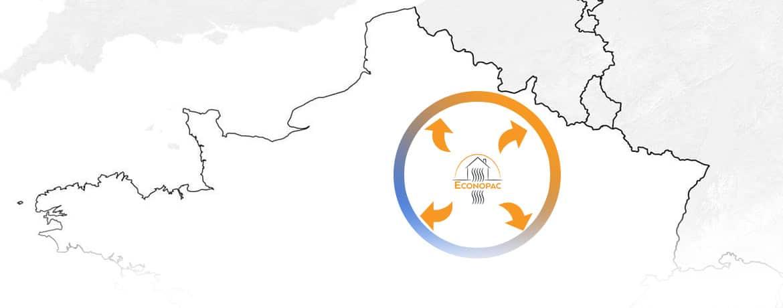 installation pompes à chaleur dans la Marne , la haute Marne, l'aube et la seine et Marne par Econopad